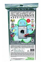Ηχομονωτικό Αυτοκόλλητο Πολλαπλών Χρήσεων Μαύρο 50x24 4τεμάχια - DB Mappypell